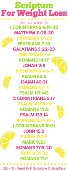 Scripture for weight loss is an essential tool for success in your diet. Scripture can always help equip us for lasting change. If you are dieting or seeking a healthy lifestyle, these 25 scriptures for weight loss are for you! Gewichtsverlust Motivation, Weight Loss Motivation, Exercise Motivation, One Week Diet, Psalm 63, Bible Scriptures, Scripture Verses, Bible Quotes, Scripture Reading