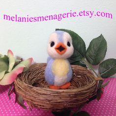 Felted Bluebird of Happiness by Melanie by MelaniesMenagerie