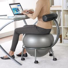 Bosu Ball Desk Chair - Desk seats are simply perfect for offices. You can not look for a better seat than a desk chair for y Large Home Office Furniture, Best Home Office Desk, Cool Office Desk, Office Organization At Work, Best Office Chair, Furniture Ideas, Desk Ideas, Small Office, Office Ideas