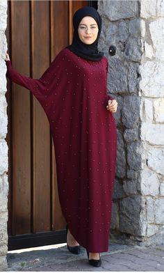 Pre order batwing pearl maxi dress onesize by majdoolina on Etsy Burqa Fashion, Moslem Fashion, Hijab Style Tutorial, Abaya Designs, Hijab Fashion Inspiration, Islamic Fashion, African Dresses For Women, Islamic Clothing, Muslim Women