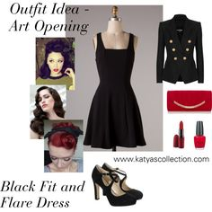 """""""Outfit Idea - Art Opening"""" by mstravesura on Polyvore"""