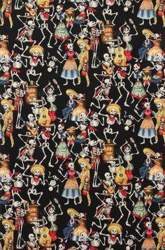 Alexander Henry Fiesta De Los Muertos (skulls) Day of the Dead фото Mexican Skulls, Mexican Art, Mexican Fabric, Catrina Tattoo, Mexican Pattern, Skull Fabric, Conversational Prints, Alexander Henry Fabrics, Candy Skulls