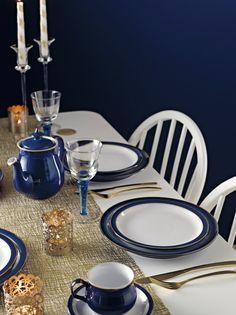 I like this .denbypots.co.uk/denby-plates.html & Denby Imperial Blue Tableware John Lewis | Kitchen/Dining Room ...