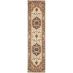 Shop for Safavieh Hand-hooked Heriz Red/ Ivory Wool Rug (2'6 x 12'). Get free shipping at Overstock.com - Your Online Home Decor Outlet Store! Get 5% in rewards with Club O!