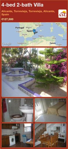 4-bed 2-bath Villa in Alicante, Torrevieja, Torrevieja, Alicante, Spain ►€127,500 #PropertyForSaleInSpain