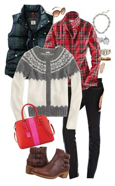 """""""12.8.15"""" by mommydearest ❤ liked on Polyvore featuring Joe Fresh, J.Crew, Kate Spade, UGG Australia, Ann Taylor and LOFT"""