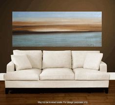 72xxl large abstract Landscape painting original  by jolinaanthony, $389.00.    Love the painting, love the sofa, love the wall, love the floors.  Transport me there, please!
