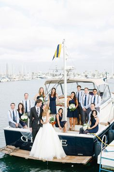 Tent Wedding with Chic Nautical Theme on La Playa Bay in San Diego