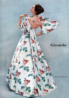 Ladies Home Journal 1956, Dovima wearing Givenchy
