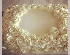 White Rose sheet cake