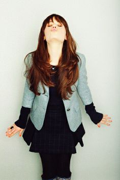 """Zooey Deschanel es muy extrovertida y graciosa en la vida real y en su trabaja como """"New Girl""""."""