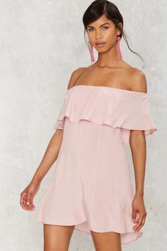 After Party by Nasty Gal After Forever Ruffle Dress - Blush | Shop Clothes at Nasty Gal!