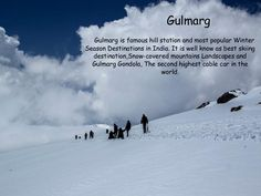 #Gulmarg  @Getupandgotours Adventure Holiday, Adventure Tours, Hill Station, Car In The World, Mountain Landscape, Winter Season, Skiing, Safari, Two By Two