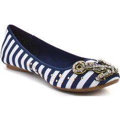 Naughty Monkey Women's Captain - Navy ($50) ❤ liked on Polyvore featuring shoes, flats, sapatos, zapatos, scarpe, ballet flats, naughty monkey, comfort, casual y women