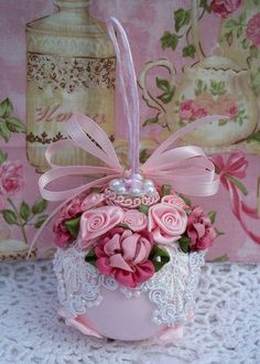 pink-shabby-chic-lace-christmas-ornaments