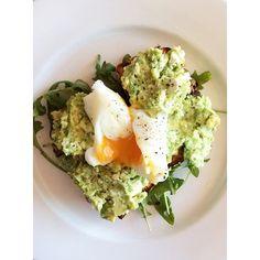 Paleo Veggie Bread with Avocado and Feta Smash from the I Quit Sugar 8-Week Program.