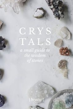 "| mystic | C R Y S T A L S a small guide to the wisdom of stones quartz + hematite storm + earth | a t t r i b u t e s | Grounding Manifestation Making the Spiritual Physical | a f f i r m a t i o n | ""Through my body, I ground the energies of the Light"