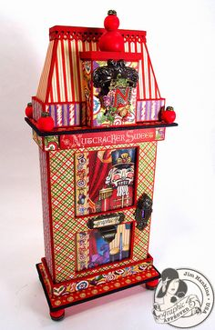 Prepare to be dazzled by @Jim Hankins, the Gentleman Crafter's glorious altered art box! He made this out of our 5x8 Altered art box and built it feet and a roof with his mastery of handmade chipboard pieces! Isn't this glorious? #graphic45