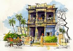 Urban Sketchers: Cuba Old Havana by James Richards