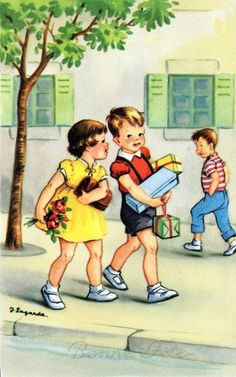 """Let me carry your books for you."" ...brings back memories...J.Lagarde"