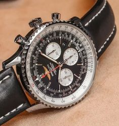 Hands-on with the Breitling Navitimer GMT watch that, at wide, adds to the size of an already large and iconic watch. Breitling Superocean Heritage, Breitling Navitimer, Breitling Watches, Swiss Luxury Watches, Swiss Army Watches, Luxury Watches For Men, Big Watches, Cool Watches, Gentleman Watch