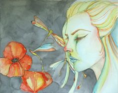 The Color of Grief fine art print 8x10 by dragonflypoppy on Etsy, $15.00