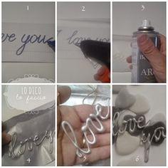 'I love you' handmade con colla a caldo