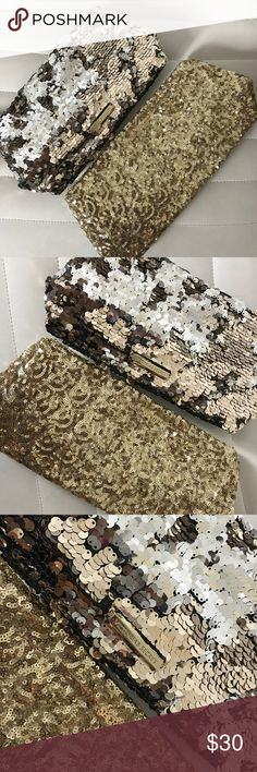 """BUNDLE Victoria's Secret Bags *Beautiful bags from Victoria's Secret! *Both are in """"like new"""" condition. *No damage. *The large sequin bag zips and the smaller sequin, gold bag has a magnetic connect. Victoria's Secret Bags Mini Bags"""