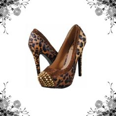 """Penny Loves Kenny 'Faris' Platform Pumps Penny Loves Kenny Bronze Metallic Leopard Print Heel. Shake things up a bit with this fierce platform pump featuring a classic slip-on design, spike embellished toe, metallic fabric trim, over lasted platform and corresponding high-heel.  • Heel Height - 5 1/4""""  • Platform - 1 1/4""""  • Toe - Slight Point 7 Medium (B,M) New with box Platform Heels Man Made Faux Leather Material Studded Bundle for discounts! Thank you for shopping my closet! Penny Loves…"""