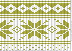 Tricksy Knitter Charts: Layer 1 - Fair Isle in White and Neon Yellow