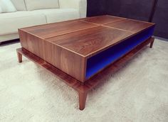 "82 mentions J'aime, 4 commentaires - nicolas&nicolas (@nicolasetnicolas) sur Instagram : ""Table basse (repost @jeanbenoitlarcher) #surmesure #noyerUS #bleu #klein #coffeetable #tablebasse…"" Lampe Metal, Palette, Klein, Decoration, Sweet Home, Furniture, Instagram, Home Decor, Pipes"