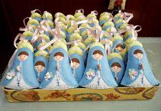 Artes da Luci: Mãezinhas do Céu - Nossa Sra das Graças em feltro ...