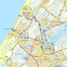 Fietsroute: Leiden, Noordwijk en Katwijk aan Zee  (http://www.route.nl/fietsroutes/121593/Leiden-Noordwijk-en-Katwijk-aan-Zee/)