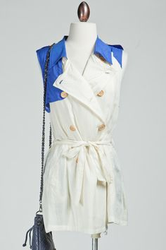 Trench Dress -Blue