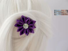 Haarspange Haarschmuck Kanzashi von HairAccesoiresByEoC auf Etsy