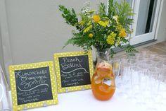 citrus orange lemon grapefruit party theme lime tangerine yellow green decor bridal shower wedding baby