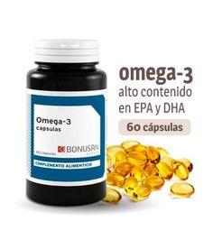 Omega 3 - DHA y EPA 60 perlas. Remedio para el colesterol y los trigliceridos. El omega-3 ayuda a prevenir y mejorar enfermedades cardíacas.