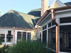 All homes needs rain gutters, even those that don't receive much rain or snow. This aspect of a home is generally thought to be a hassle. Copper Gutters, How To Install Gutters, Detroit Area, Exterior Remodel, Great Lakes, Windows, Mansions, Architecture, House Styles