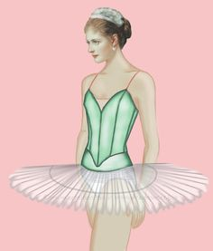 Pattern in two XS sizes (italian 38 and 40) plus detailed and illustrated tutorial, that will allow you to make a professional pancake tutu. The pattern is related to the professional version with pants a part from a bodice divided in several pieces. Cutting diagram: yoke into two parts Basic body