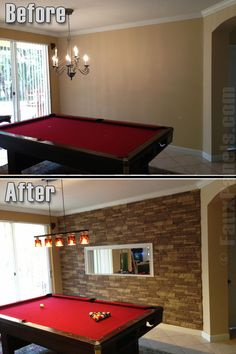 One Wall Of Brick Or Stone In Pool Table Room For The Home - Stone pool table