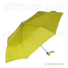 Paraguas Bisetti mujer plegable automático triángulos verde