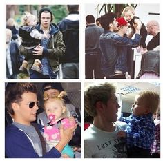 #Louis #Harry #Niall and #Zayn with Baby Lux <3