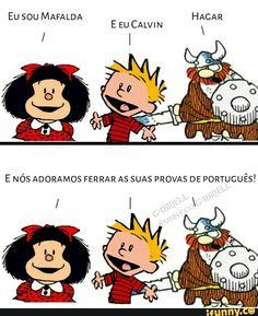 So a Mafalda Memes Estudantis, Best Memes, Funny Memes, League Memes, Student Memes, Wtf Funny, Comic Strips, Otaku, Nerd