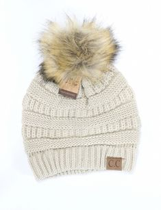08b56b2be7528 Fur Pom CC Beanie HAT43. Outfits With HatsKnit ...
