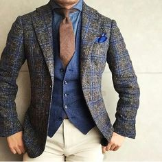 45 Brilliant Men& Colorway Outfits Outfit Style S . 45 Brilliant Men& Colorway Outfit for Winter style style , 45 Brilliant Men's Color Combinations Outfit for Winter S. Mens Fashion Blazer, Suit Fashion, Tweed Blazer Men, Tweed Men, Denim Waistcoat, Fashion Shirts, Tweed Jacket, Fashion Hair, Fashion Photo