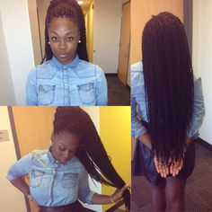 The length and size of her Senegalese twist is just beautiful