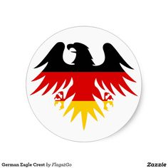 German Eagle Crest Classic Round Sticker