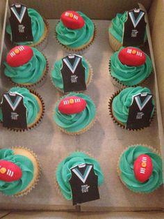 AFL Port Power cupcakes.