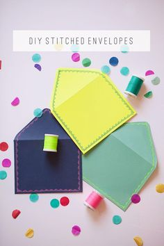 DIY Stitched Envelopes (via Tell Love & Chocolate)