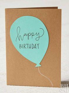 These Handmade Birthday Cards Are So Easy, Anyone Can Make Them! These Handmade Birthday Cards Are So Easy, Anyone Can Make Them! Make an easy DIY birthday card with just. Simple Birthday Cards, Homemade Birthday Cards, Girl Birthday Cards, Bday Cards, Birthday Cards For Friends, Diy Gifts For Friends, Birthday Messages, Birthday Greetings, Birthday Ideas